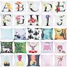 Alphabet Print Animal Pillow Case Polyester Sofa Car Cushion Cover Home Decor