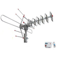 New 180 Miles Outdoor Amplified HD TV Antenna High Gain 22-38dB UHF/VHF/FM