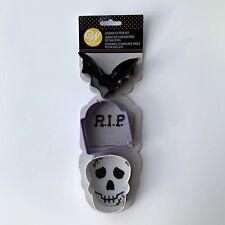 Wilton Halloween Cookie Cutter Set Bat Skull Face Tombstone Metal Gravestone