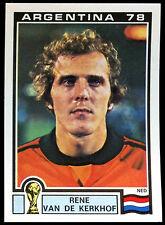 Argentina 78 Rene Van De Kerkhof #126 World Cup Story Panini Sticker (C350)