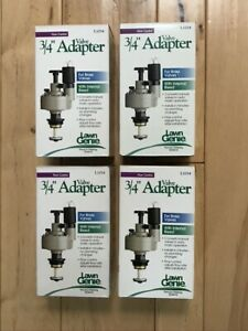 """LAWN GENIE L1034 3/4"""" VALVE ADAPTER BRASS VALVES MANUAL TO AUTOMATIC LOT OF 4"""