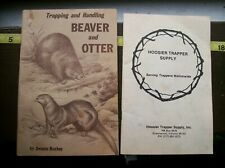 2 vintage trapping books : beaver & otter & hoosier trapping supply 1970's illus