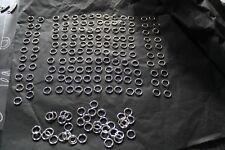 pour fabrication bijoux: anneaux plats, percés, ouverts 3 modèles lot 220 pièces