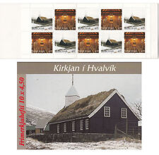 FAROER Føroyar 1997 Libretto Carnet Chiesa Church di HVALVIK MNH **