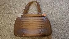 Damenhandtasche, Handtasche, Kroko Leder, Vintage 50er, 60er +Taschentuch Halter