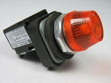 Allen-Bradley 800TC-QH2A Universal LED Pilot Light 12-130V Amber Lens ! WOW !