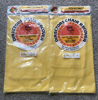 NOS Midcentury 2 VTG Yellow Directors Chair Canvas Fabric Replacement Cover