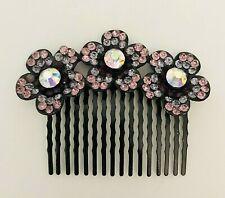 AB Crystal Hair Comb, Purple - Prom Bridal Formal Hair Clip Headpiece