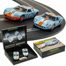 SCALEXTRIC Slot Car C4041A Ford GT40 1969 - Gulf Twin Pack