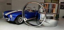 AC Shelby DAX Cobra Replica Kit Car Light Chrome Brass Rim Trim Set Retro x6