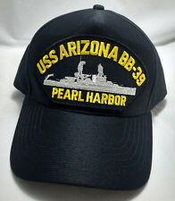 USS ARIZONA BB-39 PEARL HARBOR snapback hat cap adjustable black