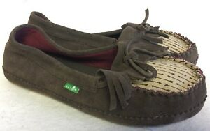 SANUK Women's Shy Anne Slip On Casual Moc Moccasin Loafer Shoes Chocolate