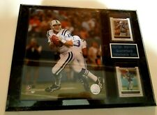 PEYTON  MANNING PLAQUE SEALED WITH 8 X 10 PHOTO + 2 CHROME CARDS PLATE 12 X 15