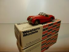 WESTERN MODELS WMS6 JAGUAR XK120 ROADSTER RHD 1949- RED 1:43 - VERY GOOD IN BOX