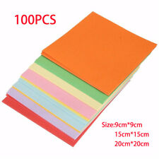 Square Origami Double Sided Colored Folding Paper Handmade Craft 100 Sheets UK
