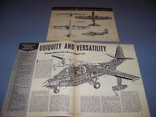 VINTAGE..GRUMMAN SA-16B ALBATROSS.. 4-VIEWS/DETAILS/CUTAWAY..RARE! (415C)