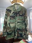 US Army Military Camo Ripstop Combat Jacket Medium/Regular Previously owned