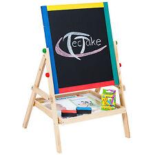 Pizarra Infantil 2 en 1 Juego para pintar magnética escolar caballete 12 TIzas