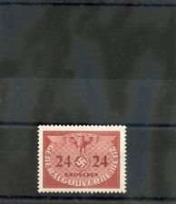 GENERAL GOV'T(OCC OF POLAND) Sc NO6(MI D6)*VF LH 1940 24G OFFICIAL $30