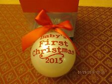 BABY'S FIRST CHRISTMAS 2015 ORNAMENT NEW IN BOX