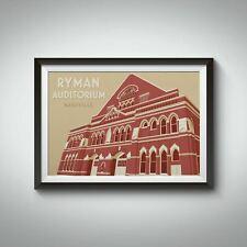 More details for ryman auditorium nashville travel poster - framed - vintage - bucket list prints