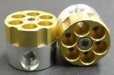 Grinder Herb Spice Tobacco 2 Piece Crusher Metal Smoke Revolver Bullet Herbal