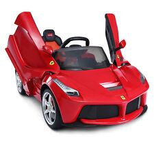 Electric Kids Ride On Cars Licensed Ferrari 2.4G Remote Control MP3 LED 12V