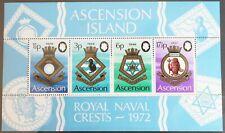 Ascension Island – 1972 Royal Naval Crests – Minisheet – UM (MNH) (R5)