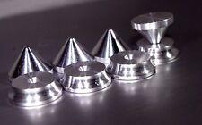 - British Made-alluminio - 4 x Altoparlante PICCHI + 4 x spikes shoes-Hifi Stand