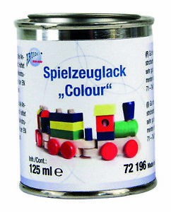 Spielzeuglack 375ml Lack Holz Möbel viele Farben Lackieren Überzug 1l/€23,80 R