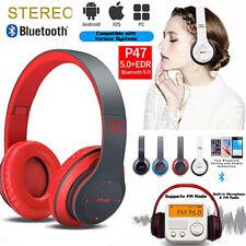 Foldable Over-Ear Wireless Headphones Bluetooth Stereo Bass Earphone Headset