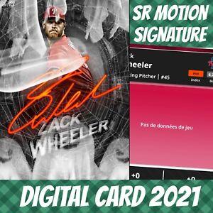Topps Bunt 20 Zack Wheeler Halloween Ghost Motion Signature 2021 Digital Card