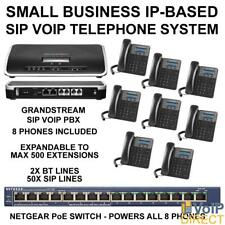Grandstream UCM6202 & 8x GXP1615 VOIP SIP Business Telephone System
