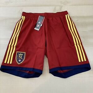 Adidas Real Salt Lake Mens Medium Authentic Soccer Shorts Built In Underwear Red