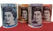 Small sterling money tin *Featuring NEW £5 & £10 note designs*