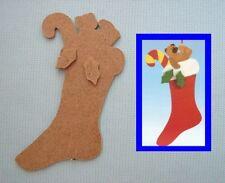 CHAUSSETTE de NOEL support en MDF à décorer (serviettes, peinture, mosaïque ...)