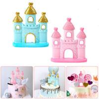Castle Cake Topper Fairy Tale Wedding Birthday Party Fondant Dessert Decoration