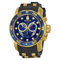 Invicta Pro Diver Chronograph Blue Dial Black Rubber Men's Watch 6983