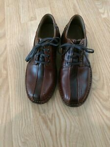 Clarks Touareg Brown Oxford Shoes Leather Lace-up Casual Men 8M NEW