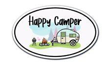 Happy Camper Sticker Rv Trailer Retro Laptop Car Vehicle Window Bumper Decal