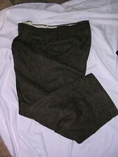 #285 Mens Vintage Wool Herringbone Tweed Victorian Steampunk Dickens Pants 36X27
