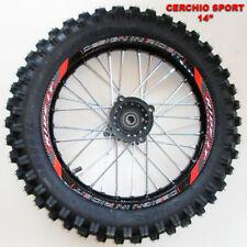 """Cerchio 14"""" Posteriore In Alluminio Con Gomma Pit Bike"""