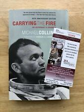 Signed Michael Collins Book Carrying The Fire JSA COA
