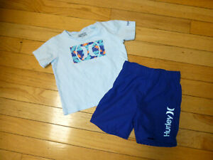 HURLEY  BABY BOYS OUTFIT SHORTS/TOP SIZE 18 MONTHS NICE