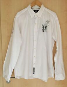 LA MARTINA  Herrenhemd Gr. 3XL   100% Cotton / Baumwolle weiß