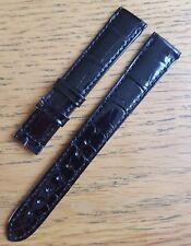 Vacheron Constantin 14/12mm Black Glossy Alligator Leather  Strap - Never Used