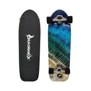 """BLACKHAWK 33 x 10"""" 8Ply Maple ABEC7 Surfskate Trainer Mini Cruiser Skateboard"""