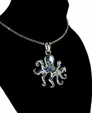 Tide Jewellery Inlaid Paua Shell Octopus Necklace Boxed