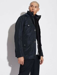 Armani exchange - NAVY JACKET WITH QUILTED INNER GILET