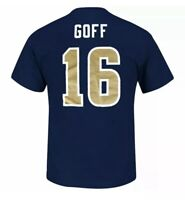 Jared Goff Los Angeles Rams Shirt Majestic New Number 16 Navy Blue NFL Football
